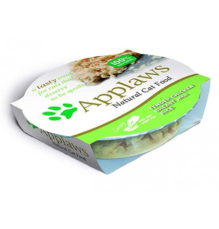 Applaws Tender Chicken Breast & Rice / Консервы Эплоус для кошек Нежнейшая Куриная грудка Рис (цена за упаковку)