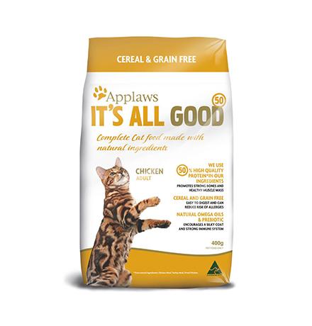 Applaws Senior Grain free Chicken Vegetables / Сухой Беззерновой корм Эплоус для Пожилых кошек Курица овощи