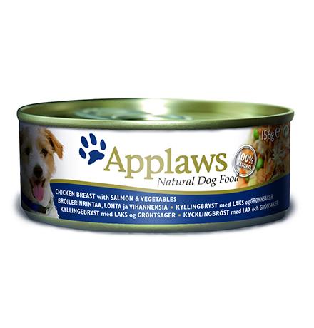 Applaws Chicken Chicken with Salmon & Vegetables / Консервы Эплоус для собак Курица Лосось овощи (цена за упаковку)