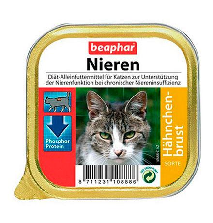 Beaphar Nieren Haehnchen-brust / Полнорационный диетический корм Беафар Паштет с Куриной Грудкой для кошек с почечной недостаточностью