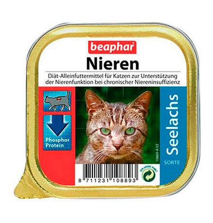 Beaphar Nieren Seelachs / Полнорационный диетический корм Беафар Паштет с Сайдой для кошек с почечной недостаточностью