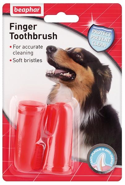 Beaphar Finger Toothbrush / Зубная щетка Беафар для собак на Палец Двойная