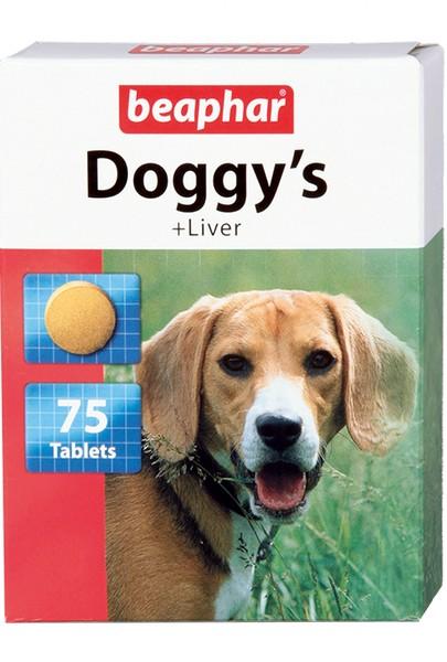 Beaphar Doggy's+Liver / Кормовая добавка Беафар для собак с Печенью (