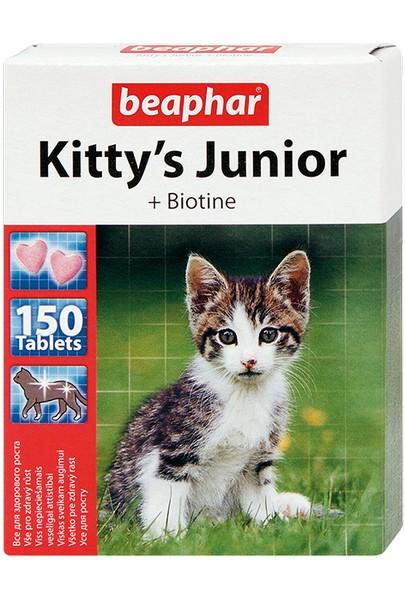 Beaphar Kitty's Junior +Biotine / Кормовая добавка Беафар для Котят Витаминированное лакомство с Биотином (