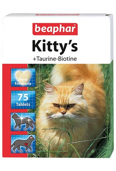 Beaphar Kitty's+Taurine+Biotin / Кормовая добавка Беафар для кошек Витаминированное лакомство с Таурином и Биотином (