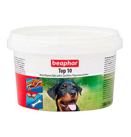 Beaphar Top 10 / Кормовая добавка Беафар для собак Мультивитамин с L-карнитином