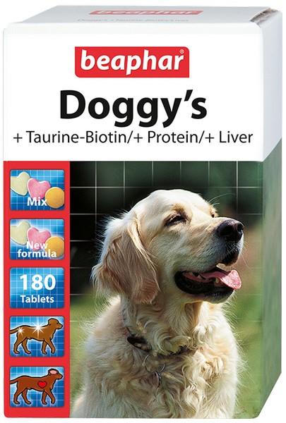 Beaphar Doggy's Mix / Кормовая добавка Беафар для собак с Таурином, Биотином, Протеином, Печенью