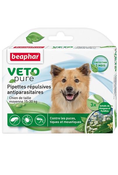Beaphar Veto Nature / Капли Беафар от Блох, Клещей и Комаров с экстрактом Маргозы для собак Средних пород