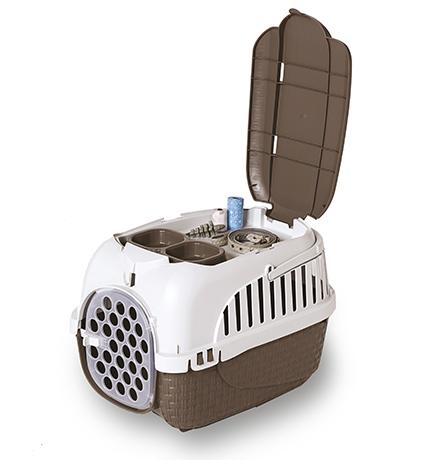 Bama Pet Kennel Tour Maxi / Переноска Бама Пет для животных весом до 12 кг Коричневая