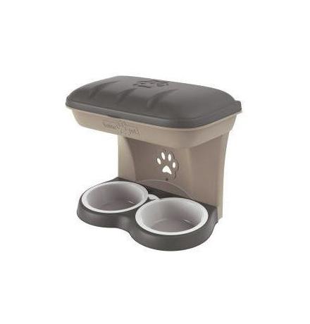 Bama Pet Maxi / Миска Бама Пет Настенная Двойная 2200 мл 50х29х52h см