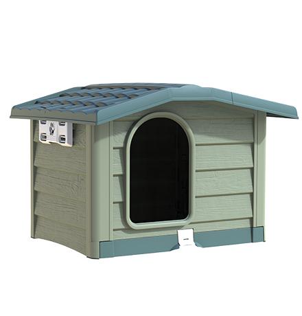 Bama Pet Bungalow / Будка Бама Пет для собак Пластиковая Зеленая