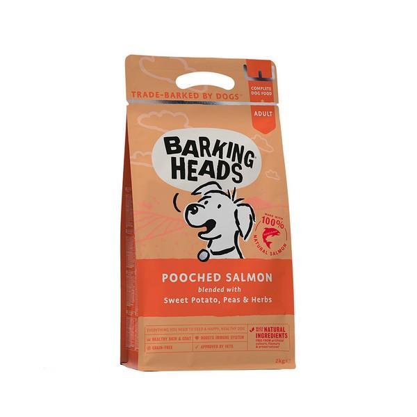 Barking Heads Dog Adult Pooched Salmon Grain free / Сухой Беззерновой корм Баркинг Хэдс для взрослых собак 'Мисочку оближешь' Лосось картофель