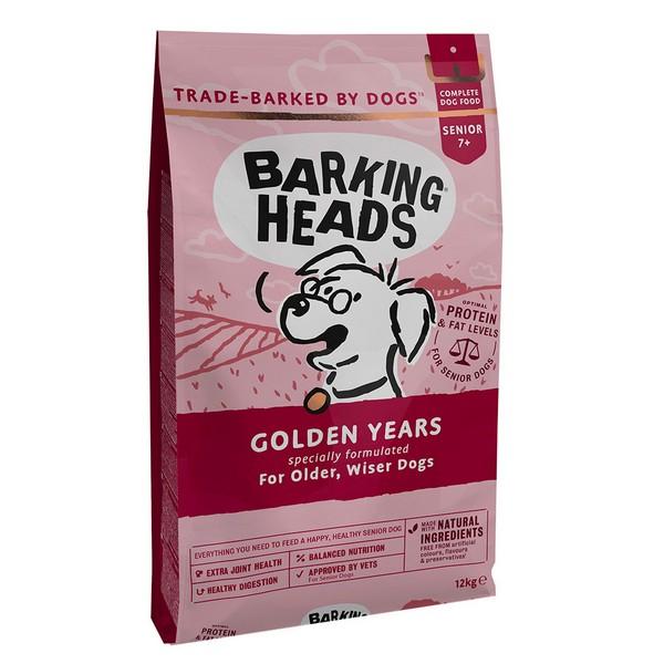Barking Heads Dog Senior Golden Years / Сухой корм Баркинг Хэдс для собак старше 7 лет 'Золотые годы' Курица рис