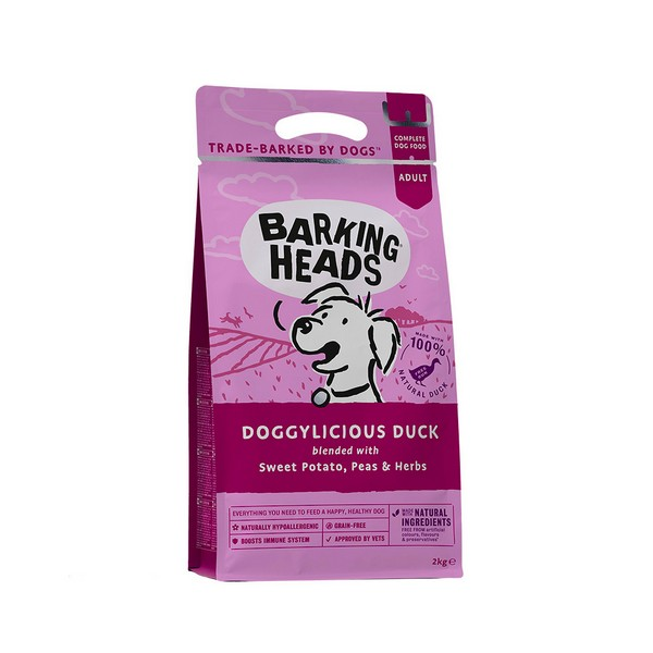 Barking Heads Dog Adult Doggylicious Duck Grain free / Сухой Беззерновой корм Баркинг Хэдс для взрослых собак 'Восхитительная утка' Утка батат