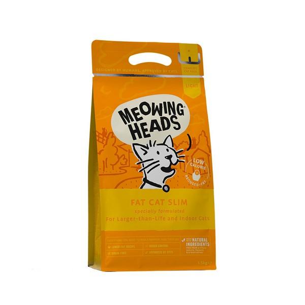 Meowing Heads Light Fat Cat Slim Grain free / Сухой Беззерновой корм Меовинг Хэдс для взрослых кошек с Избыточным весом 'Худеющий толстячок' Курица лосось