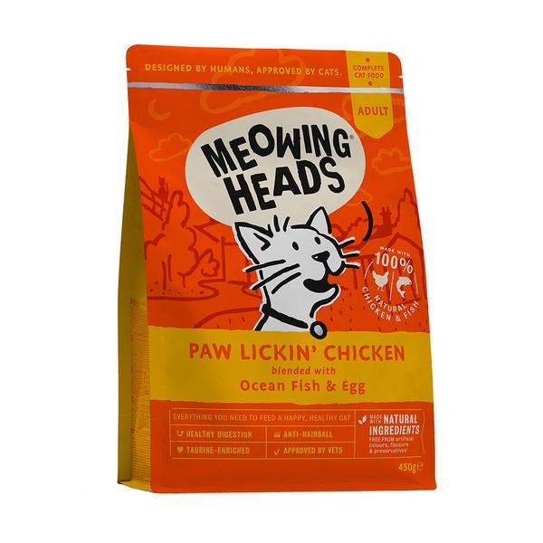 Meowing Heads Paw Lickin' Chicken / Сухой корм Меовинг Хэдс для взрослых кошек 'Куриное наслаждение' Курица рис