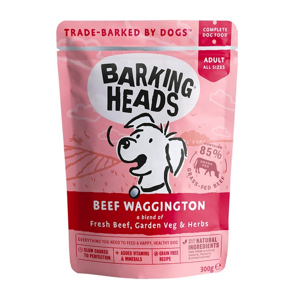 Barking Heads Dog Beef Waggington / Паучи Баркинг Хэдс для собак 'Вуф-строганов' Говядина (цена за упаковку)