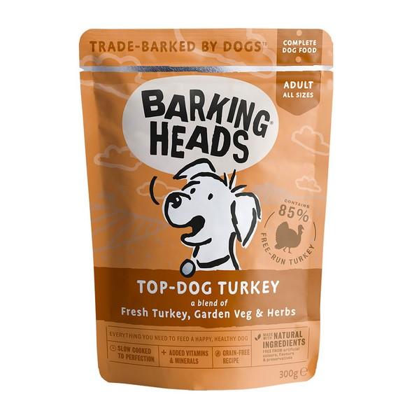 Barking Heads Dog Top Dog Turkey / Паучи Баркинг Хэдс для собак 'Бесподобная индейка' (цена за упаковку)