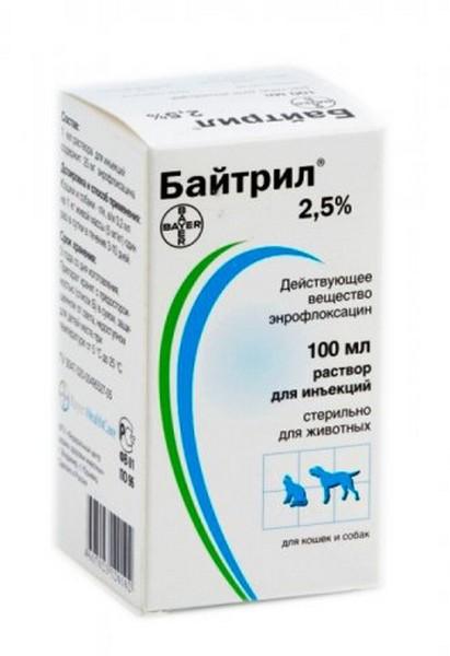 Bayer Байтрил 2,5% / Раствор для кошек и собак