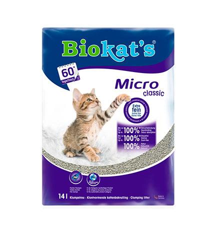 Biokats Micro Classic / Комкующийся наполнитель Биокэтс для кошачьего туалета