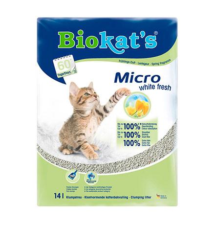 Biokats Micro Fresh / Комкующийся наполнитель Биокэтс для кошачьего туалета Свежесть