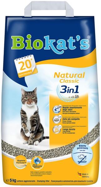 Biokats Natural Classic / Комкующийся наполнитель Биокэтс для кошачьего туалета