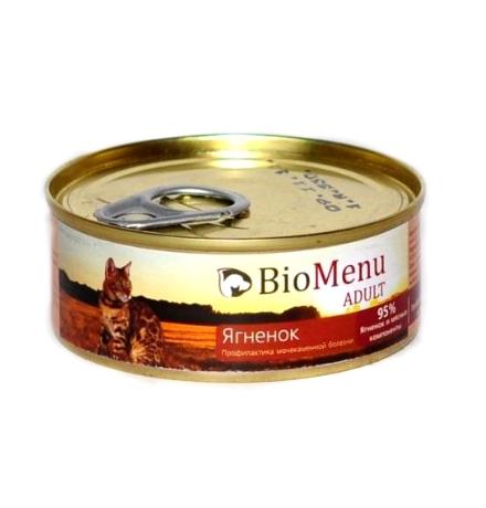 BioMenu Adult Консервы для Кошек мясной паштет с Ягненком