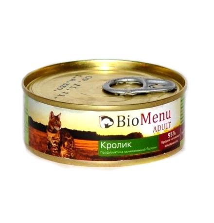 BioMenu Adult Консервы для Кошек мясной паштет с Кроликом