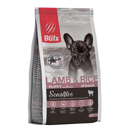Blitz Puppy Sensitive All Breeds Lamb & Rice / Сухой корм Блиц для Щенков всех пород Ягненок рис