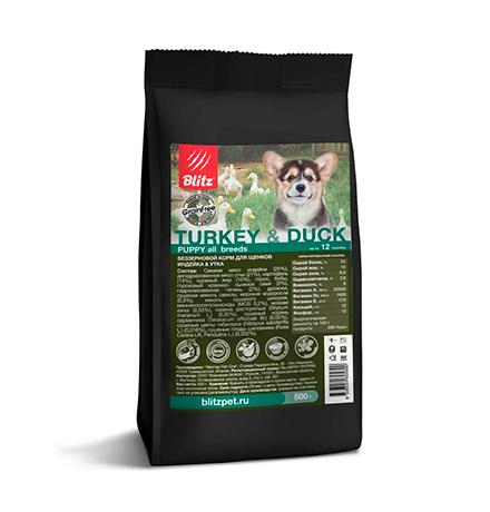 Blitz Puppy Holistic Grain Free Turkey & Duck / Сухой Беззерновой корм Блиц для Щенков Индейка Утка