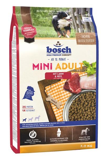 Bosch Adult Mini Lamb & Rice / Сухой корм Бош Эдалт Мини для собак Мелких пород Ягненок с Рисом