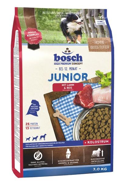 Bosch Junior Lamb & Rice / Сухой корм Бош Юниор для Щенков всех пород Ягненок с Рисом