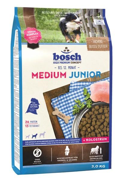 Bosch Junior Medium / Сухой корм Бош Юниор Медиум для Щенков Средних пород