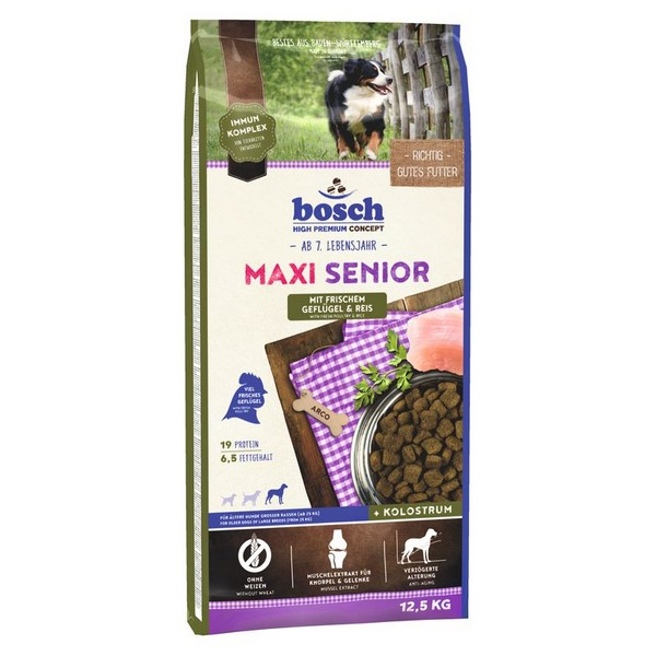 Bosch Maxi Senior Geflugel & Reis / Сухой корм Бош для Пожилых собак Крупных пород Птица с Рисом