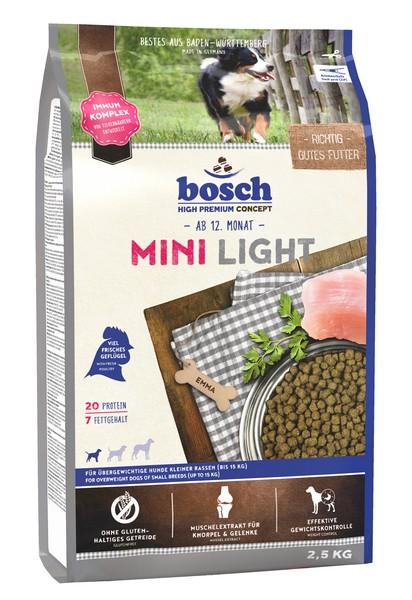 Bosch Mini Light / Сухой корм Бош Лайт для собак Мелких пород Низкокалорийный