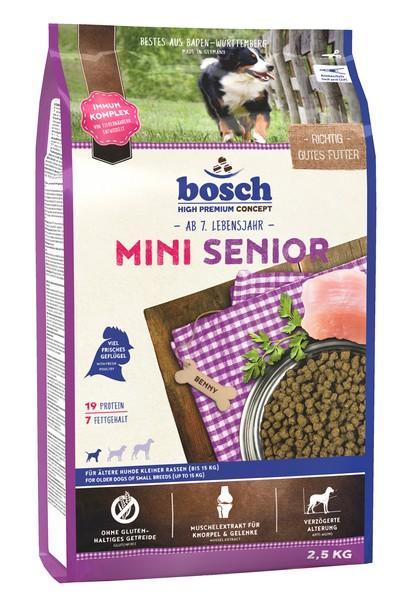 Bosch Mini Senior / Сухой корм Бош Сеньор для Пожилых собак Мелких пород