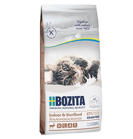 Bozita Feline Funktion Indoor & Sterilised Grain free Reindeer / Сухой Беззерновой корм Бозита для Стерилизованных и Домашних кошек Олень