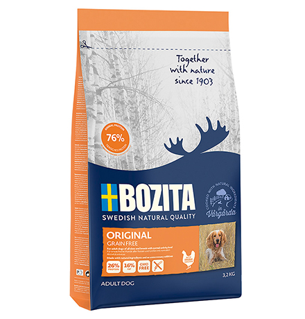 Bozita Grain free Original / Сухой Беззерновой корм Бозита для взрослых собак с нормальным уровнем активности