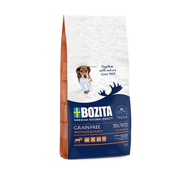 Bozita Grain free Mother & Puppy Elk / Сухой Беззерновой корм Бозита для Щенков, юниоров, беременных и кормящих собак с мясом Лося
