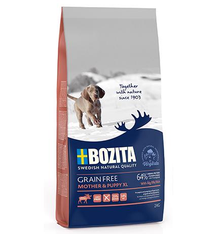 Bozita Grain free Mother & Puppy XL Elk / Сухой Беззерновой корм Бозита для Щенков и юниоров Крупных пород,беременных и кормящих собак с мясом Лося