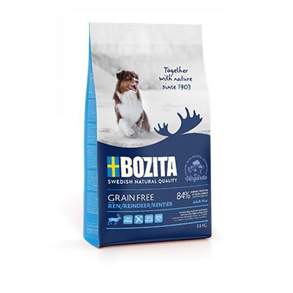 Bozita Grain free Reindeer / Сухой Беззерновой корм Бозита для взрослых собак c нормальным и повышенным уровнем активности с мясом Оленя