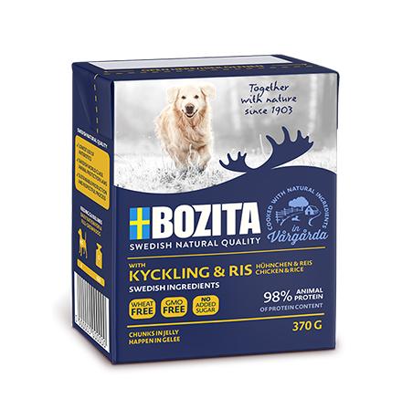 Bozita Naturals Chicken & Rice / Консервы Бозита Натуралс для собак кусочки в желе Курица и рис (цена за упаковку)