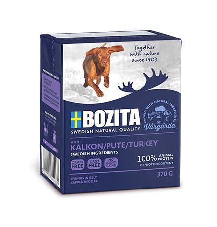 Bozita Naturals Turkey / Консервы Бозита Натуралс для собак кусочки в желе Индейка (цена за упаковку)