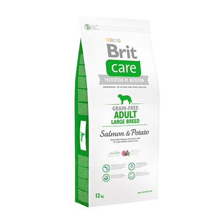 Brit Care Adult Large Breed Salmon & Potato / Сухой корм Брит Беззерновой для взрослых собак Крупных пород Лосось Картофель