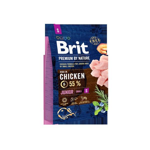 Brit Premium by Nature Junior S / Сухой корм Брит Премиум для Молодых собак Мелких пород Курица