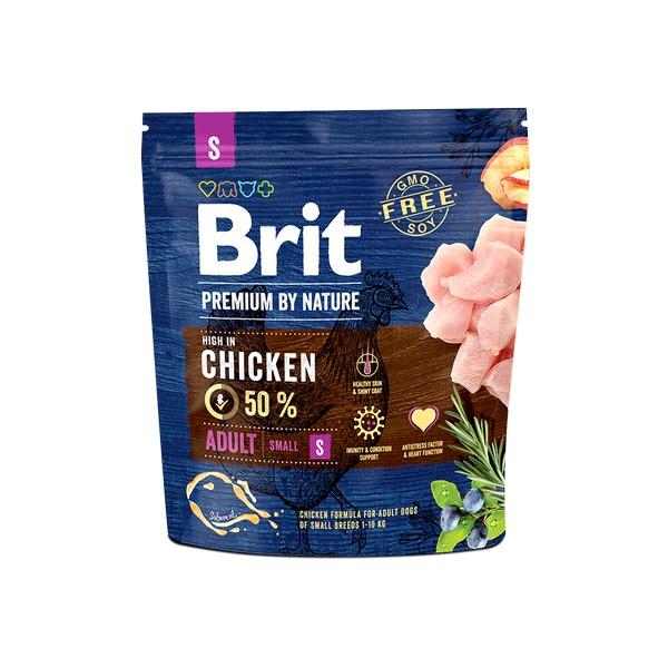 Brit Premium by Nature Adult S / Сухой корм Брит Премиум для взрослых собак Мелких пород Курица