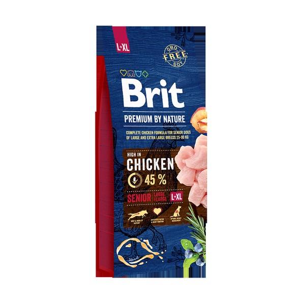 Brit Premium by Nature Senior L + XL / Сухой корм Брит Премиум для Пожилых собак Крупных и Гигантских пород