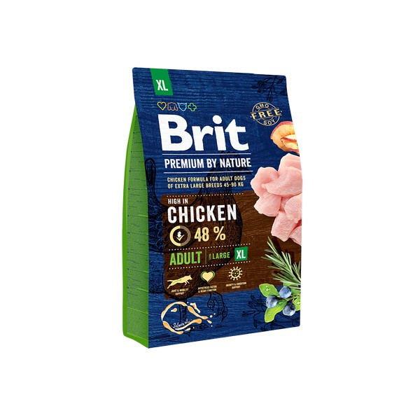 Brit Premium by Nature Adult XL / Сухой корм Брит Премиум для взрослых собак Гигантских пород Курица