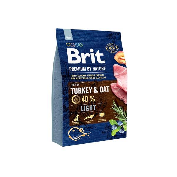 Brit Premium by Nature Light Turkey & Oat / Сухой корм Брит Премиум Лайт для взрослых собак с Избыточным весом Индейка овес