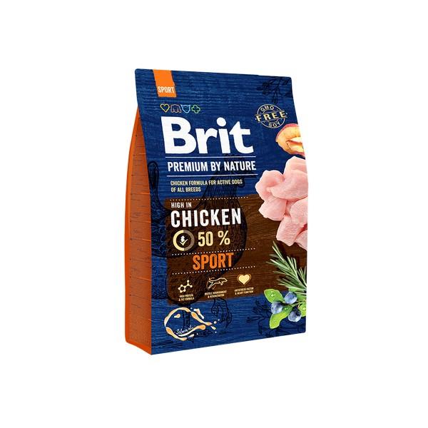 Brit Premium by Nature Sport / Сухой корм Брит Премиум для Активных собак Всех пород Курица